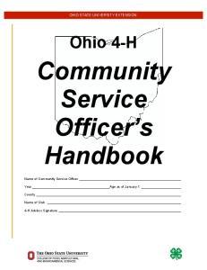 Community Service Officer s Handbook