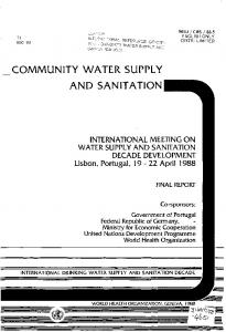 COMMUNITY WATER SUPPLY AND SANITATION
