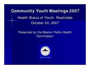 Community Youth Meetings 2007