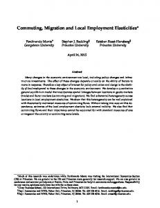 Commuting, Migration and Local Employment Elasticities