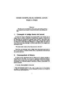 COMO COMPILAR EL KERNEL LINUX PASO A PASO