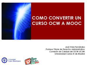 COMO CONVERTIR UN CURSO OCW A MOOC