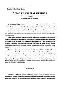 COMO EL CRISTAL DE ROCA