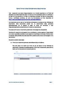 Como firmar electrónicamente documentos