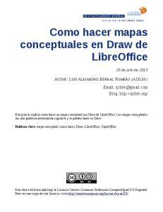 Como hacer mapas conceptuales en Draw de LibreOffice