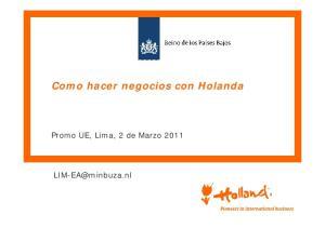 Como hacer negocios con Holanda