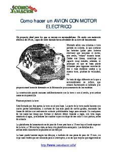 Como hacer un AVION CON MOTOR ELECTRICO