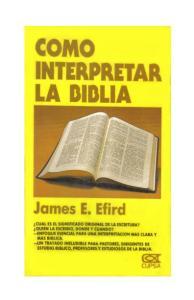 COMO INTERPRETAR LA BIBLIA