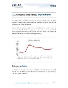 Cómo somos los argentinos a la hora de invertir?