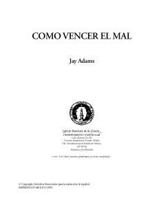 COMO VENCER EL MAL. Jay Adams