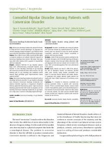 Comorbid Bipolar Disorder Among Patients with Conversion Disorder