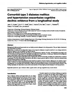 Comorbid type 2 diabetes mellitus and hypertension exacerbates cognitive decline: evidence from a longitudinal study