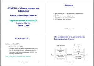 COMP2121: Microprocessors and Interfacing