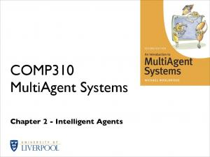 COMP310 MultiAgent Systems. Chapter 2 - Intelligent Agents