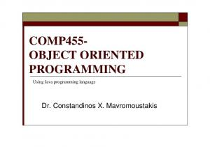 COMP455- OBJECT ORIENTED PROGRAMMING