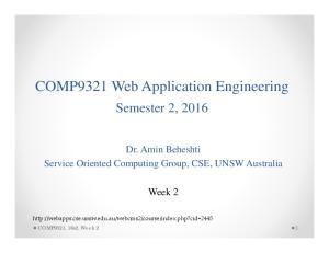 COMP9321 Web Application Engineering