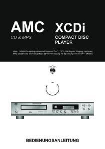 COMPACT DISC PLAYER CD & MP3 BEDIENUNGSANLEITUNG