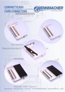 COMPACT FLASH CARD CONNECTORS