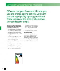 Compact Fluorescent Lamps Integrated