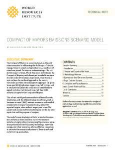 COMPACT OF MAYORS EMISSIONS SCENARIO MODEL