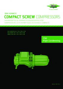 compact screw compressors