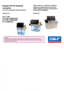 Compact Unit for Industrial Lubrication