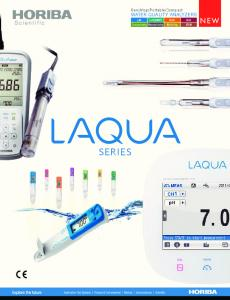 Compact WATER QUALITY ANALYZERS SERIES