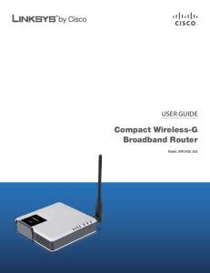 Compact Wireless-G Broadband Router