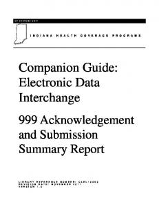 Companion Guide: Electronic Data Interchange