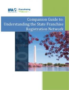 Companion Guide to: Understanding the State Franchise Registration Network
