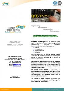 COMPANY INTRODUCTION. Engineering Procurement Construction Maintenance
