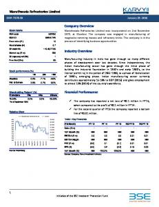 Company Overview. Industry Overview. Financial Performance