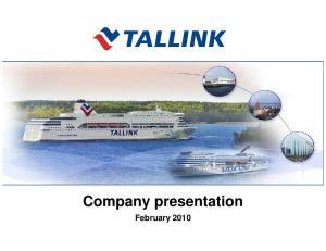 Company presentation February 2010