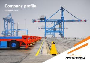 Company profile. 1st Quarter 2015