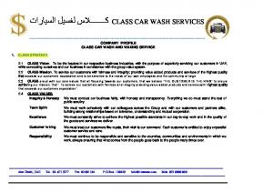 COMPANY PROFILE CLASS CAR WASH AND WAXING SERVICE