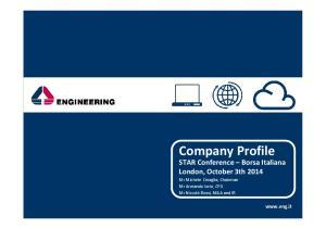 Company Profile.  Company Profile. FY2013 Results