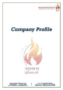 Company Profile. Kingdom of Saudi Arabia, Riyadh Tel: Fax: Web:
