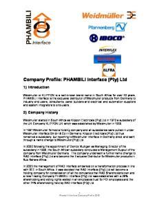 Company Profile: PHAMBILI Interface (Pty) Ltd