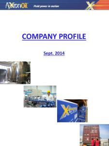 COMPANY PROFILE. Sept. 2014