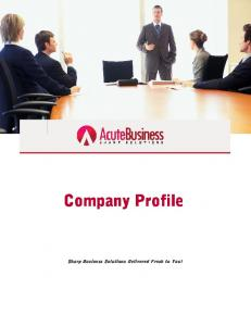 Company Profile Sharp Business Solutions Delivered Fresh to You!