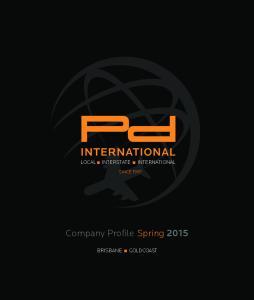 Company Profile Spring 2015