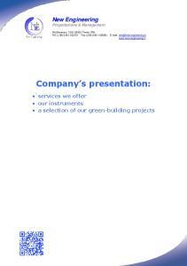 Company s presentation: