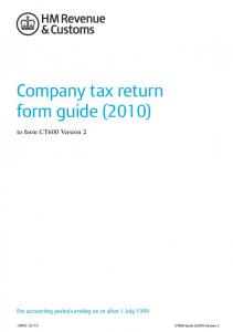 Company tax return form guide (2010)