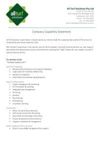 Company!Capability!Statement!