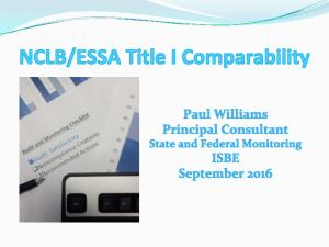 Comparability Requirements