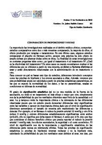 COMPARACION DE PROPORCIONES Y MEDIAS