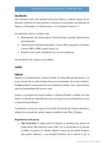 Compararativa Plataformas ecommerce, TSDSI