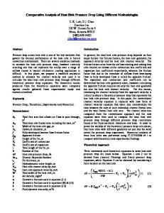 Comparative Analysis of Heat Sink Pressure Drop Using Different Methodologies