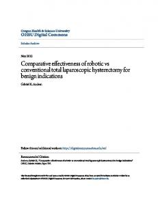 Comparative effectiveness of robotic vs conventional total laparoscopic hysterectomy for benign indications