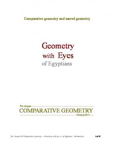 Comparative geometry and sacred geometry. Geometry. with Eyes of Egyptians